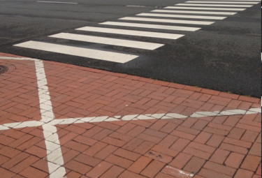 white line painting Liverpool