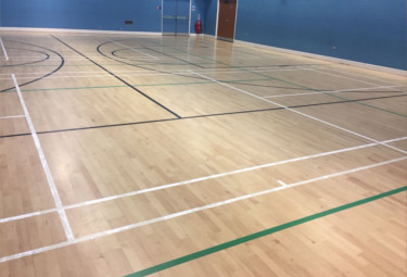 Bolton line markings for sports halls