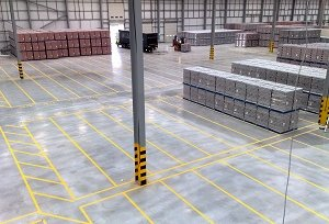 Mansfield warehouse Floor Line Marking Company